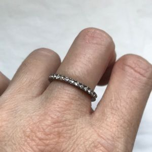 Sterling silver cubic zirconia band/ring